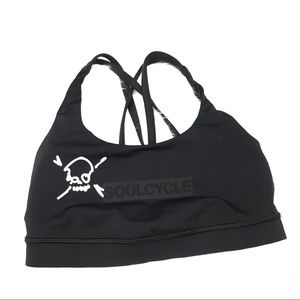 Lululemon Soulcycle Black Racerback Sports Bra